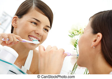 Taking care of teeth
