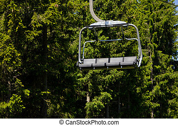 Taking chair lift after long walk