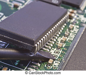 taking chip from circuit board by force