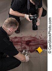 Taking evidences of crime