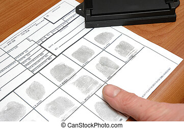 Taking fingerprints