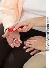 Taking medicament for hypertension