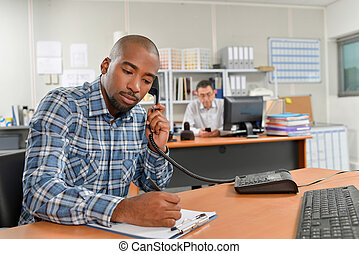 Taking notes during a phone call