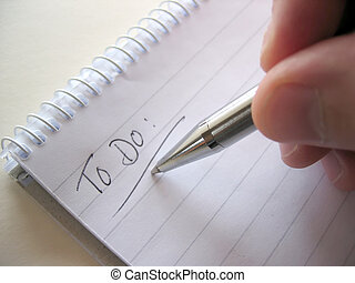 Notepad with To Do list
