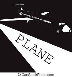 Taking off white airplane