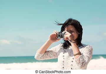taking photos at sun shine