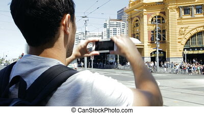 Taking Photos Of Flinders Street Station - Millennial...