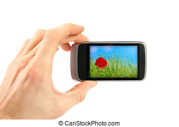 Taking picture with mobile phone