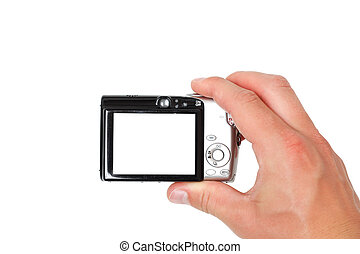 Taking pictures - A hand taking digital pictures