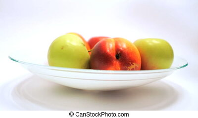 Taking Ripe Apples and Nectaries fr