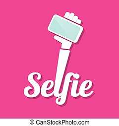 Taking Selfie Photo on Smart Phone concept icon. vector...