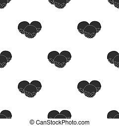 Takoyaki icon in  black style isolated on white background. Sushi pattern stock vector illustration.