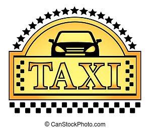 taksówka, żółty, blazon