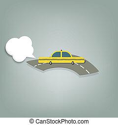 taksówka, żółty