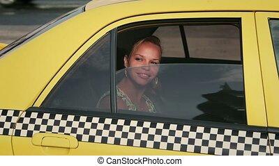 taksówka, turysta, podróżowanie