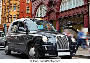 taksówka, westminster, ulica, londyn, w1, oksford