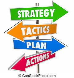 taktika, branka, strategie, plán, šipka, podpis, děj, dosáhnout, 3