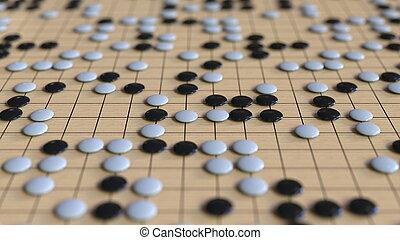 taktiken, game., verwandt, strategie, übertragung, gehen, oder, 3d