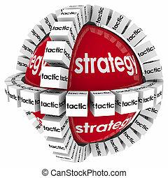 taktyka, gol, powodzenie, proces, achive, system, strategia,...