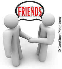 találkozik emberek, barátok, 2 kezezés, remegő, barátságos