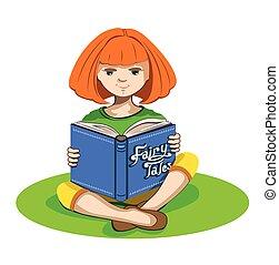 tal, weinig; niet zo(veel), boek, meisje, elfje