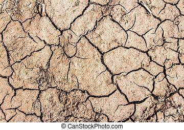 talaj, repedt, háttér