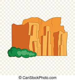 talampaya, arenito, parque nacional, penhascos, ícone