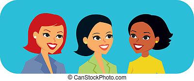talande, kvinnor, grafik