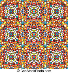 Talavera Oblana Mexican Seamless Pattern Bright Traditional