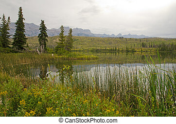 Talbot Lake in Jasper National Park, Alberta, Canada