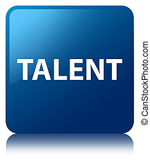 Talent blue square button