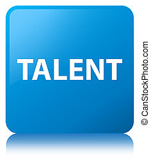 Talent cyan blue square button