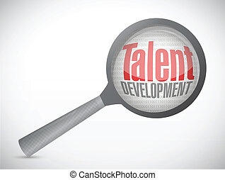 talent development investigation concept illustration design...