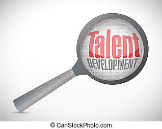 talent development investigation concept illustration design over a white background
