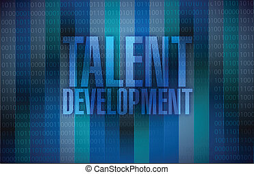 talent development message illustration design