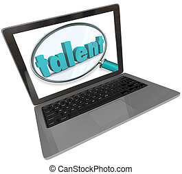 Talent Laptop Screen Online Search Skilled Unique People