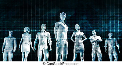 Talent Management and Career Leadership Concept Background