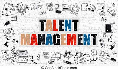 Talent Management in Multicolor. Doodle Design.