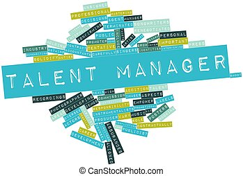 Talent manager - Abstract word cloud for Talent manager with...