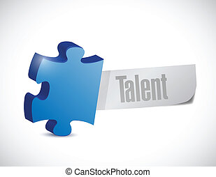 talent puzzle piece illustration design