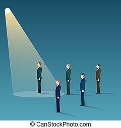 Talent recruit concept