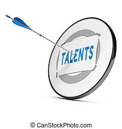 Talent Recruitment or Acquisition. Concept - One arrow...