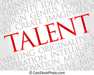 Talent word cloud, business concept