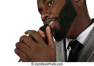 Talented black singer