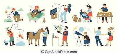 talentos, pasatiempos, ocio, habilidades, actividades