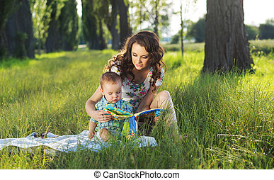 tales, mãe, leitura, fada, criança