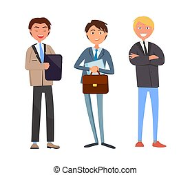 tales, mand, ledsagere, firma, forretningsmand