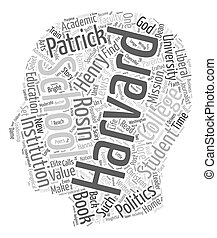 Tales Of Two Harvards text background wordcloud concept