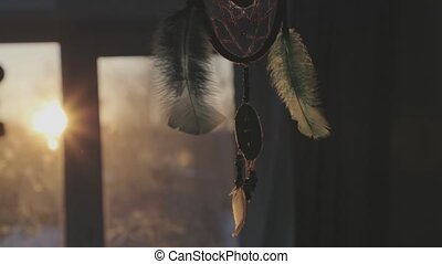 talisman dream catcher closeup.