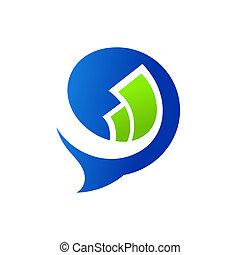 Talk about money sign - Branding identity corporate logo ...